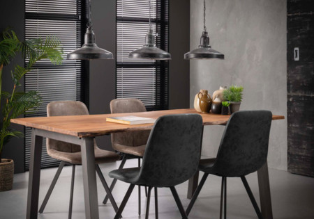 MM MEUBELEN | Eetkamertafel 180 edge- massief acacia naturel