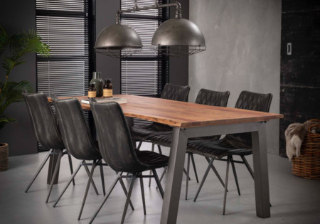 MM MEUBELEN | Eetkamertafel 210 edge-massief acacia naturel