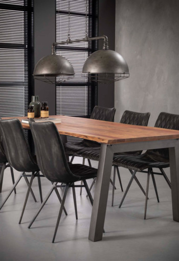 MM MEUBELEN | Eetkamertafel 240 edge-massief acacia naturel