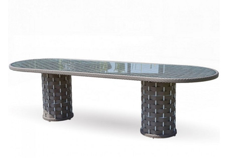 Strips Oval Dining Table