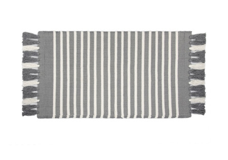 Walra Badmat Stripes & Structure Off Black/ Wit