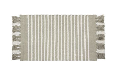 Walra Badmat Stripes & Structure Taupe/ Wit
